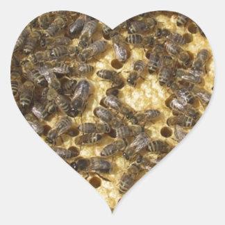 Honey Bees everywhere Heart Sticker