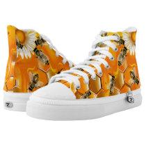 Honey Bees High-Top Sneakers
