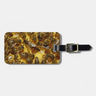 Honey Bees in Hive with Queen in Middle Luggage Tag