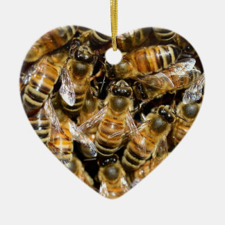 HONEY BEES INSECT CAUSES BACKGROUNDS WILD BUMBLEBE CHRISTMAS ORNAMENT
