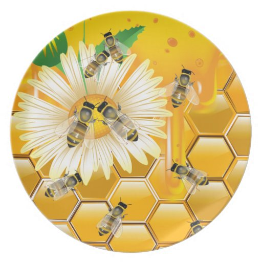Honey Bees Kitchen Plate