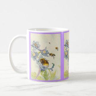 Honey Bees & Morning Glory Flowers EZ2 Customize Coffee Mug