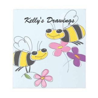 Honey Bees & Spring Flowers Note Pad