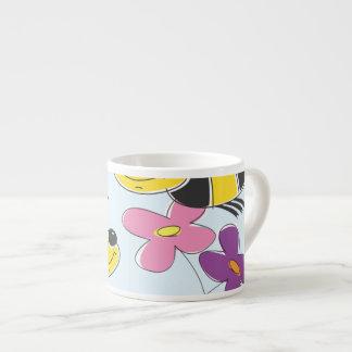 Honey Bees & Spring Flowers Espresso Cups