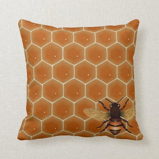 Honey Bees Throw Pillows