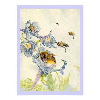 Honey Bees & Wildflowers Lavender Invitations