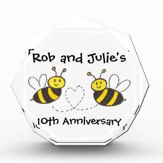 Honey Bees with Heart Acrylic Award