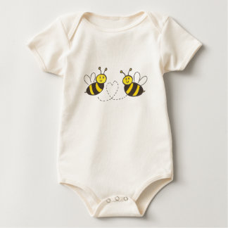Honey Bees with Heart Baby Bodysuit