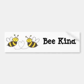 Honey Bees with Heart Bee Kind Bumper Sticker