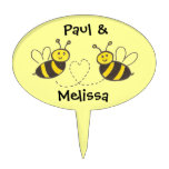 Honey Bees with Heart Cake Topper