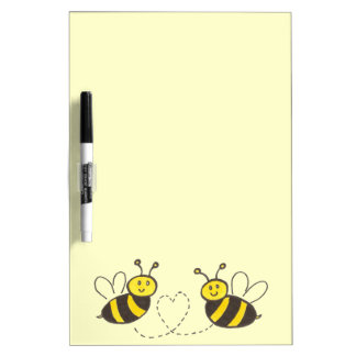 Honey Bees with Heart Dry-Erase Board