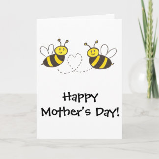 Honey Bees with Heart Happy Mother's Day! Card
