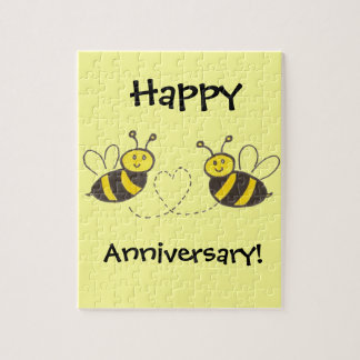Honey Bees with Heart Jigsaw Puzzle