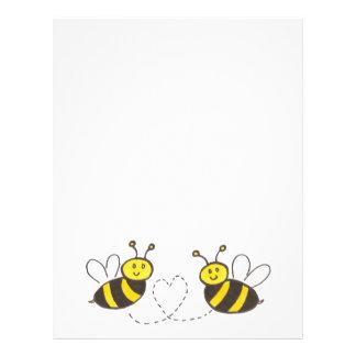 Honey Bees with Heart Letterhead