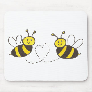 Honey Bees with Heart Mouse Pad