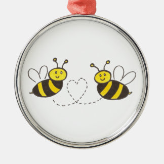 Honey Bees with Heart Ornament