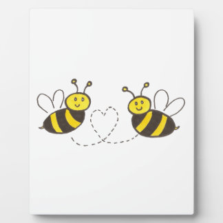 Honey Bees with Heart Display Plaque