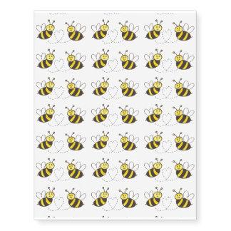 Honey Bees with Heart Temporary Tattoos