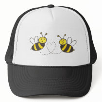 Honey Bees with Heart Trucker Hat