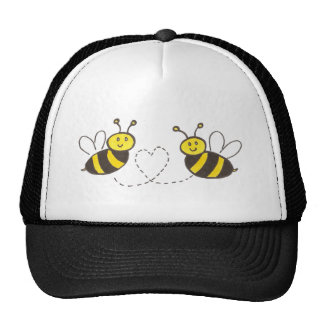 Honey Bees with Heart Trucker Hat