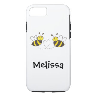 Honey Bees with Heart with Name iPhone 8/7 Case