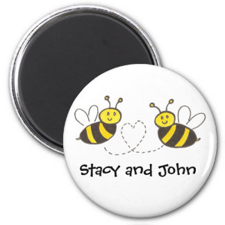 Honey Bees with Heart with Personalized Name Magnet