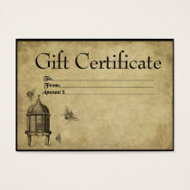 Honey Beeskep & Bees- Prim Gift Certificate Cards