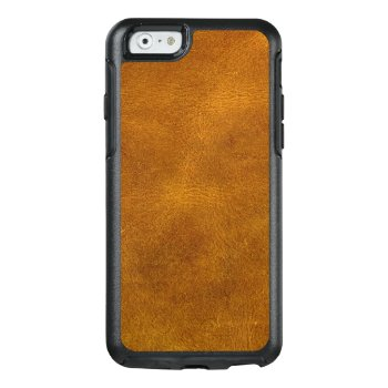 Honey Buckskin Leather Fine Grain Amber Mustard Otterbox Iphone 6/6s Case by SterlingMoon at Zazzle