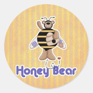 Honey (Bumble) Bear Classic Round Sticker