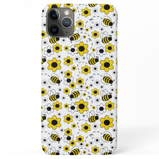 Honey bumble bee yellow floral girl iPhone 11 pro max case