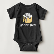 Honey Bun Cute Simple Modern Boy or Girl New Baby Bodysuit
