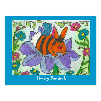 Honey Bunneh Postcard