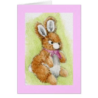 """""""Honey Bunny"""" cuddly toy Card"""