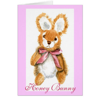 """Honey Bunny"" cuddly toy Cards"