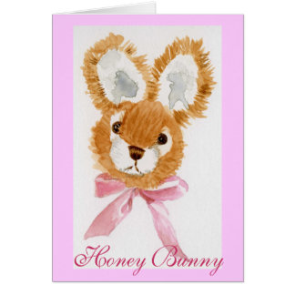 """Honey Bunny"" cuddly toy Greeting Cards"