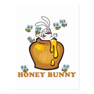 Honey Bunny Easter Post Cards