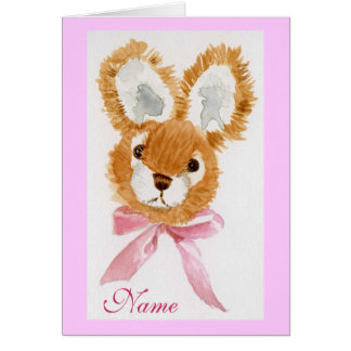 """Honey Bunny"" Happy Birthday! cuddly toy Greeting Card"