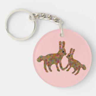 Honey Bunny Keychain Round Acrylic Keychains