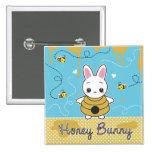 Honey Bunny Pinback Buttons