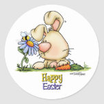 honey-bunny-skybg12x12-cp classic round sticker