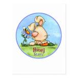 honey-bunny-skybg12x12-cp tarjeta postal