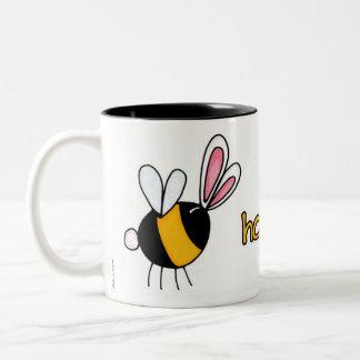 honey bunny Two-Tone coffee mug