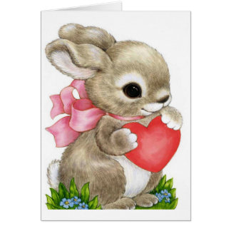 Honey Bunny Valentine   Greeting Card