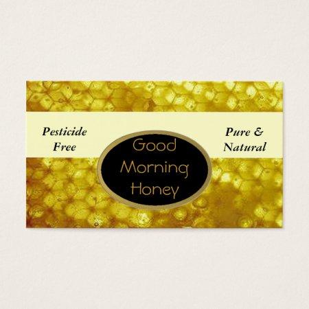 Beautiful Honeycomb Honey Farm Business Card Template