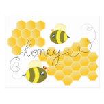 honey cartões postais