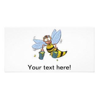 Honey cartoon bee picture card