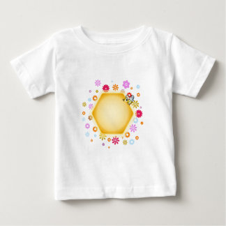 Honey cell with cute honeybee baby T-Shirt