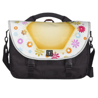 Honey cell with cute honeybee computer bag