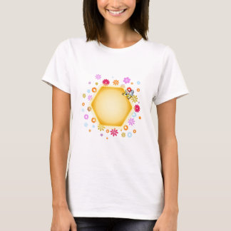 Honey cell with cute honeybee T-Shirt