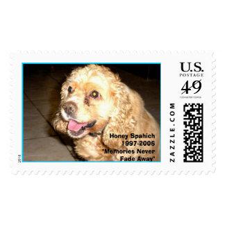 HONEY, COCKER SPANIEL,  NOW A MEMORY, Honey Spa... Stamp